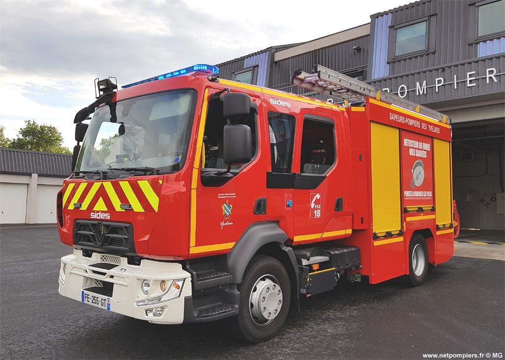#10491  Fourgon-pompe tonne Sides, châssis Renault D 15, sapeurs-pompiers, Gargenville, Yvelines (78), 2019