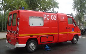 Véhicule poste de commandement, Sapeurs-pompiers, Loiret (45)