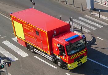 Véhicule pour interventions à risques technologiques, Marins-pompiers de Marseille, Bouches-du-Rhône (13)